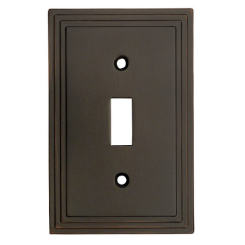 Cosmas 25053-ORB Oil Rubbed Bronze Single Toggle Switchplate Cover