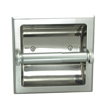 Designers Impressions Satin Nickel Recessed Toilet / Tissue Paper Holder Mounting Bracket Included: 49670