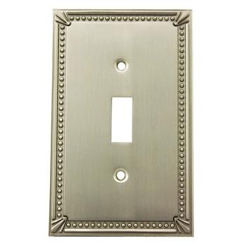Cosmas 44055-SN Satin Nickel Single Toggle Switchplate Cover