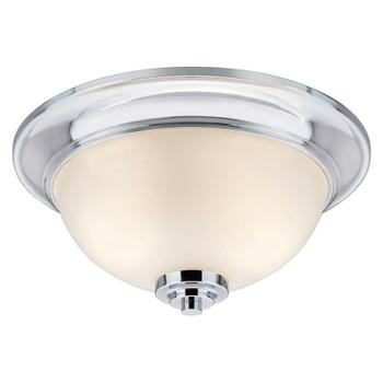 Avalon Chrome 2 Light Flush Mount Ceiling Fixture: 21-9204
