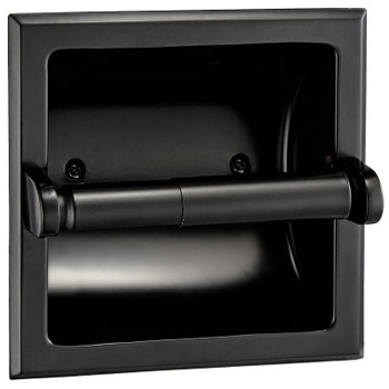Designers Impressions Black Recessed Toilet / Tissue Paper Holder Mounting Bracket Included: 48635