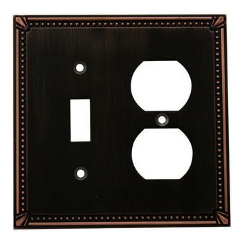 Cosmas 44059-ORB Oil Rubbed Bronze Single Toggle / Duplex Combo