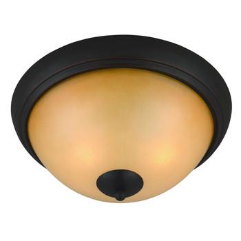 Oil Rubbed Bronze Flush Mount Ceiling Light Fixture : 16-3910
