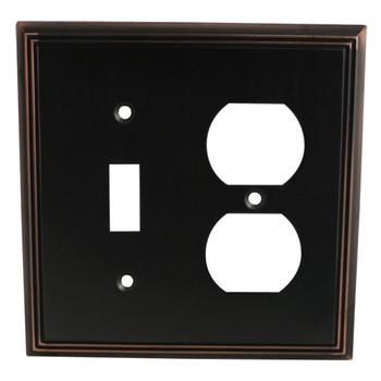 Cosmas 65022-ORB Oil Rubbed Bronze Single Toggle / Duplex Combo
