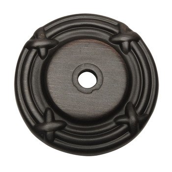 Cosmas 9468ORB Oil Rubbed Bronze Cabinet Knob Backplate