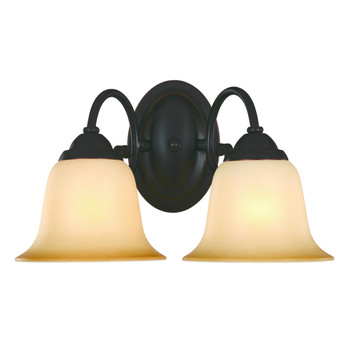 Oil Rubbed Bronze 2 Light Wall Sconce / Bathroom Fixture 16-3750