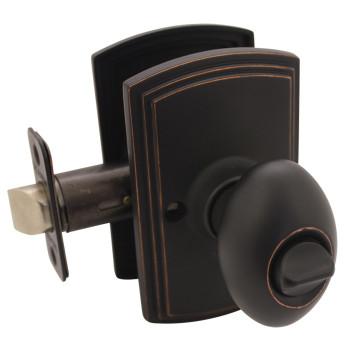Delaney Canova Design Oil Rubbed Bronze Privacy Door Knob (Bed & Bath): 102T-CN-US10