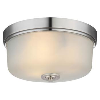 Lexington Satin Nickel Flush Mount Ceiling Light Fixture : 20-9229