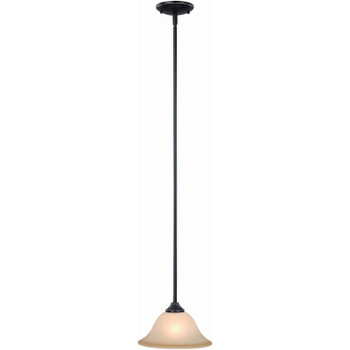 Oil Rubbed Bronze Mini-Pendant Light Fixture : 12-7882