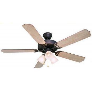 """Oil Rubbed Bronze 52"""" Ceiling Fan w/ Light Kit : 5943"""