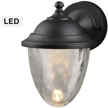 Black Outdoor Patio / Porch Exterior LED Light Fixture: 21-3592-Medium