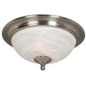 Satin Nickel Flush Mount Ceiling Light Fixture : 54-3942