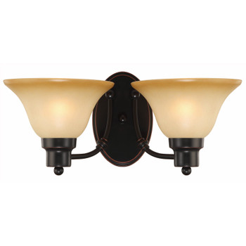 Oil Rubbed Bronze 2 Light Wall Sconce / Bathroom Fixture : 16-7222