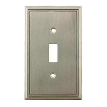 Cosmas 65003-SN Satin Nickel Single Toggle Switchplate Cover