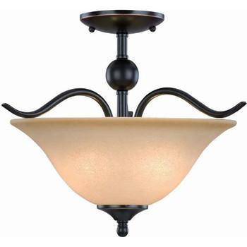 Oil Rubbed Bronze Semi-Flush Mount Ceiling Light Fixture: 12-7707