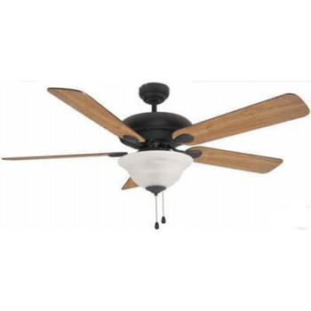 """Matte Black 52"""" Ceiling Fan w/ Light Kit : 3561"""