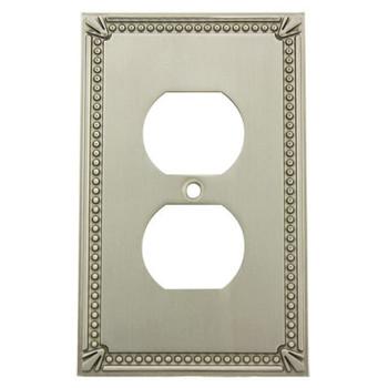 Cosmas 44018-SN Satin Nickel Single Duplex Outlet Wall Plate