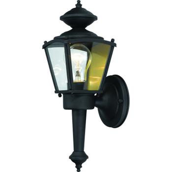 Black Outdoor Patio / Porch Exterior Light Fixture : 54-4247