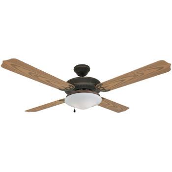 """Oil Rubbed Bronze 52"""" Outdoor Ceiling Fan : 4224"""