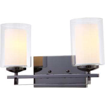 El Dorado Ebony Glaze 2 Light Wall Sconce / Bathroom Fixture : 22-4154