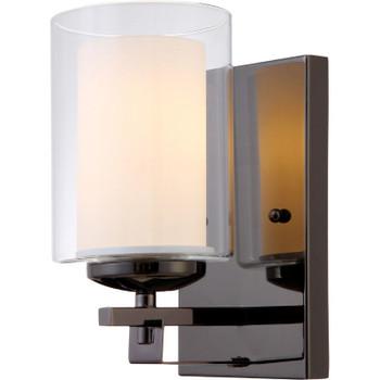El Dorado Ebony Glaze 1 Light Wall Sconce / Bathroom Fixture : 22-4079