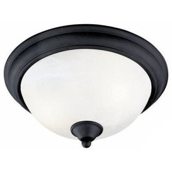 Matte Black Flush Mount Ceiling Light Fixture : 54-5061
