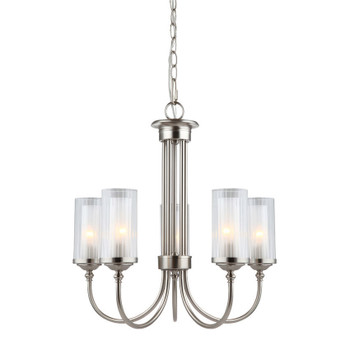 Lexington Satin Nickel 5 Light Chandelier : 20-9069