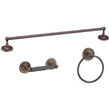 Designers Impressions Maxim Series 3 Piece Oil Rubbed Bronze Bathroom Hardware Set: 19748