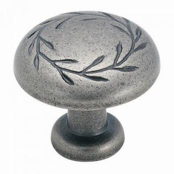Amerock BP1581-WN Inspirations Weathered Nickel Leaf Cabinet Knob