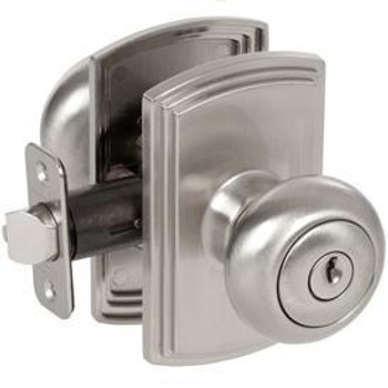 Delaney Santo Design Satin Nickel Entry Door Knob (Front & Back): 100T-SN-US15