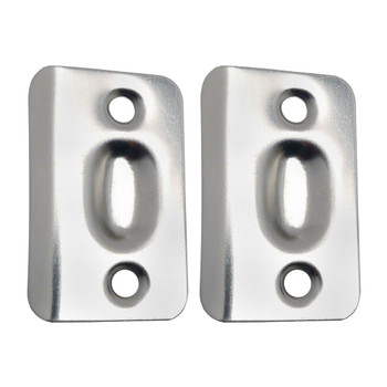 Designers Impressions Satin Nickel Replacement Ball Catch Strike Plates (Pair): PL-003