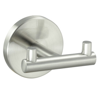 Designers Impressions Kain Series Satin Nickel Double Robe Hook: 49663