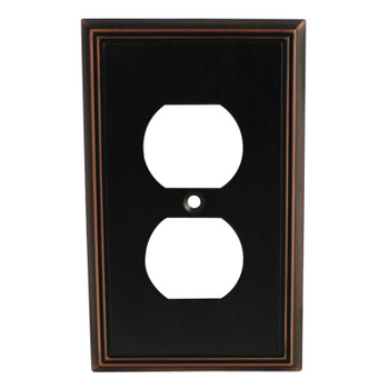 Cosmas 65049-ORB Oil Rubbed Bronze Single Duplex Outlet Wall Plate