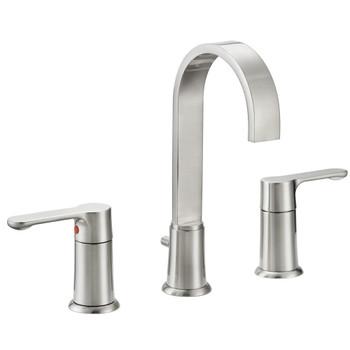 Designers Impressions 615664 Satin Nickel Lavatory Widespread Vanity Faucet