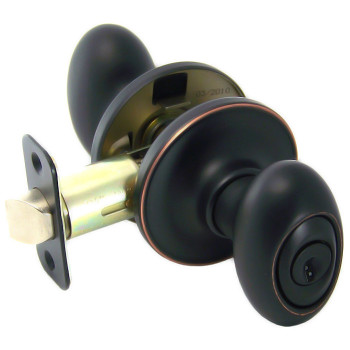 Designers Impressions Somerset Design Oil Rubbed Bronze Entry Door Knob: 33-2600