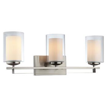 El Dorado Satin Nickel 3 Light Bathroom Vanity Wall Fixture : 20-8154