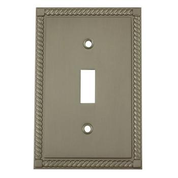 Cosmas 88544-SN Satin Nickel Single Toggle Switch Cover