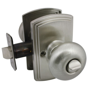 Delaney Santo Design Satin Nickel Privacy Door Knob (Bed & Bath): 102T-SN-US15