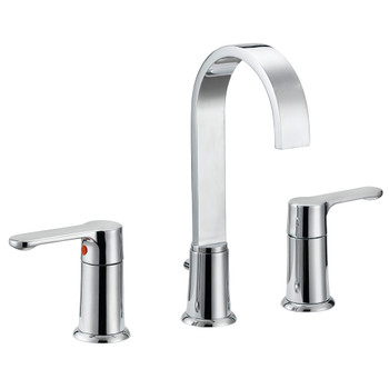 Designers Impressions 685571 Polished Chrome Lavatory Widespread Vanity Faucet