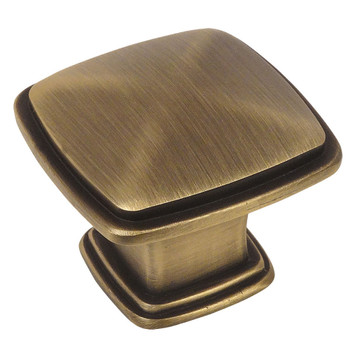 Cosmas 4391BAB Brushed Antique Brass Cabinet Knob