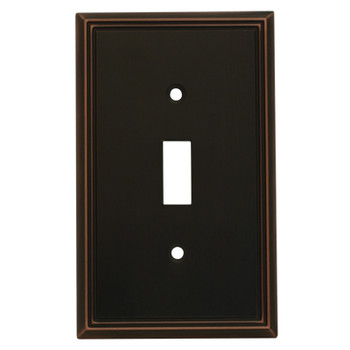 Cosmas 65003-ORB Oil Rubbed Bronze Single Toggle Switchplate Cover
