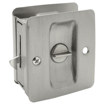 Designers Impressions Satin Nickel Pocket Door Privacy Lock : 53836
