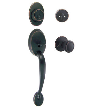 Designers Impressions Frankfort Oil Rubbed Bronze Traditional Handleset with Salem Interior: 33-8000/2444