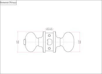 Designers Impressions Somerset Design Matte Black Privacy Door Knob: 55-2666