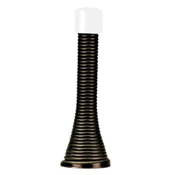 Designers Impressions 6007 Oil Rubbed Bronze Spring Door Stop with White Tip