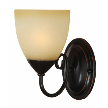 Oil Rubbed Bronze 1 Light Wall Sconce / Bathroom Fixture 16-8137