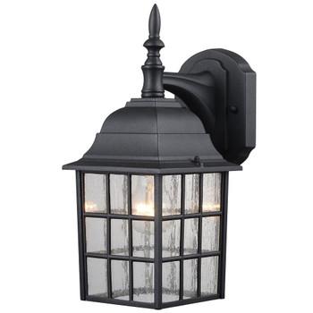 Designers Impressions Textured Black Outdoor Patio / Porch Exterior Light Fixture : 73481