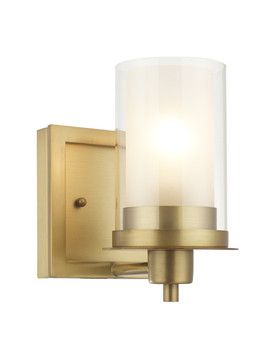 Juno Brushed Brass 1 Light Wall Sconce / Bathroom Fixture: 73485