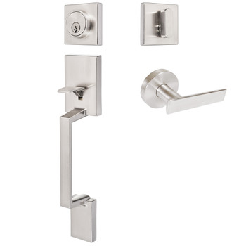 Designers Impressions Keeneland Design Satin Nickel Contemporary Handleset with Laurel Interior
