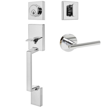 Designers Impressions Keeneland Design Polished Chrome Contemporary Handleset with Kain Interior